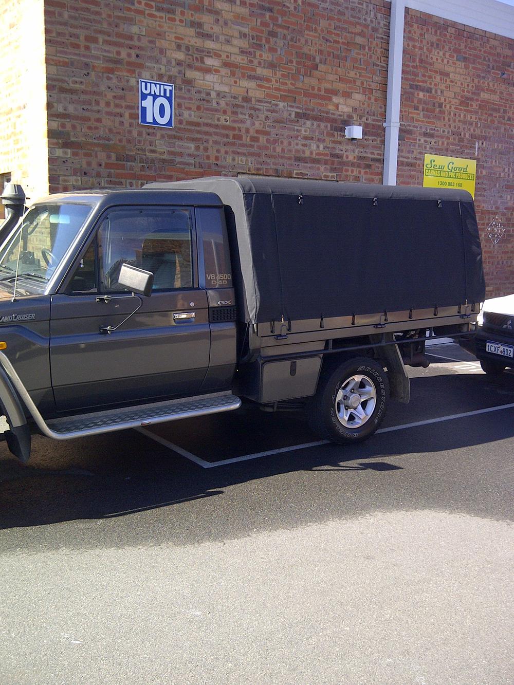 Black Canvas Canopy Toyota Land Cruiser