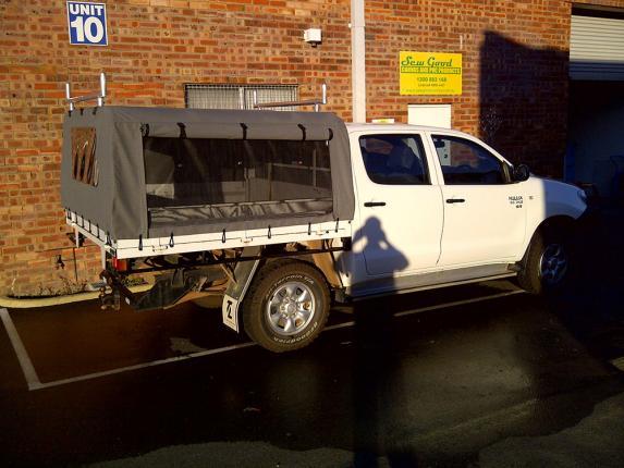 Toyota Land Cruiser Black Canvas Canopy & Canvas Ute Canopy Perth » Sew Good Canvas